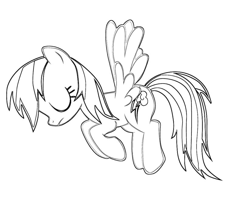 Printable My Little Pony - Rainbow Dash 13 Coloring Page title=