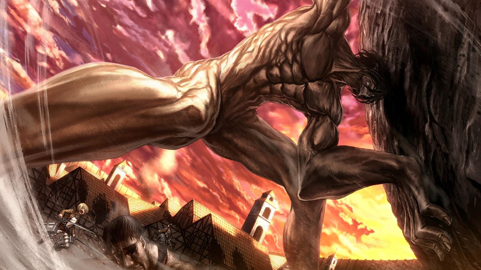hd wallpaper: Epic Eren Titan Form Shingeki no Kyojin a111