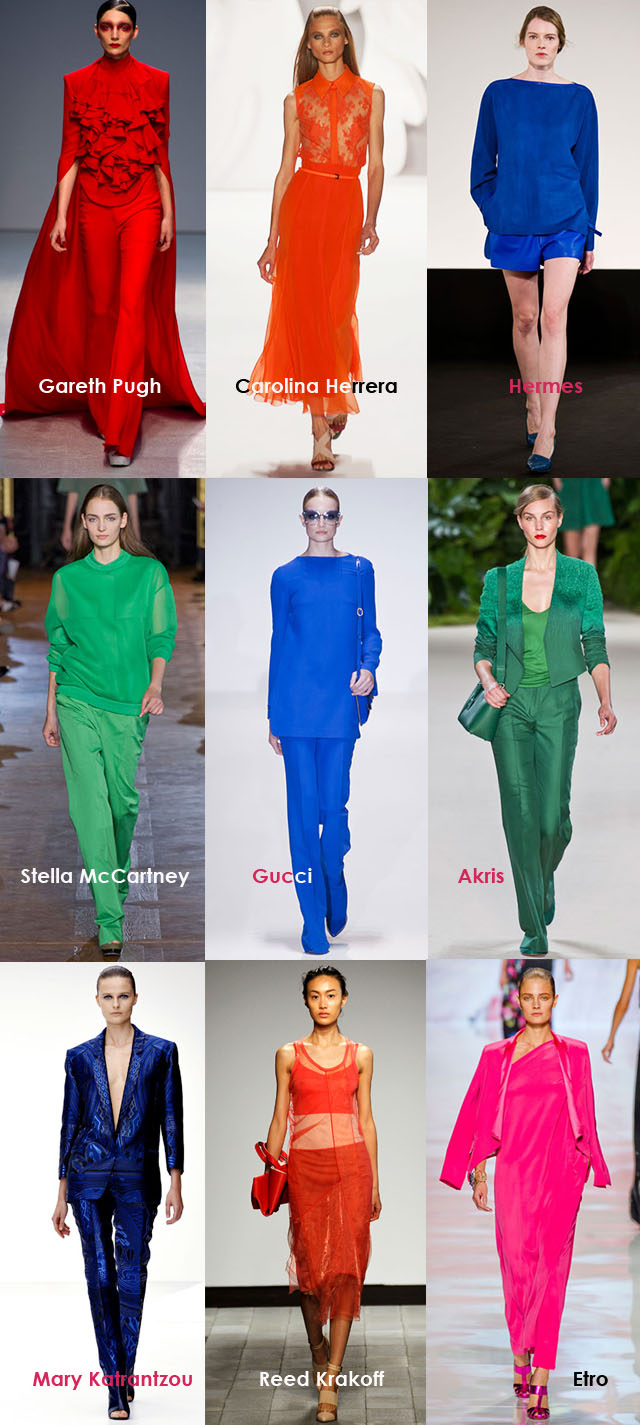 Spring 2013 Fashion Trends, Head to Toe COLOR