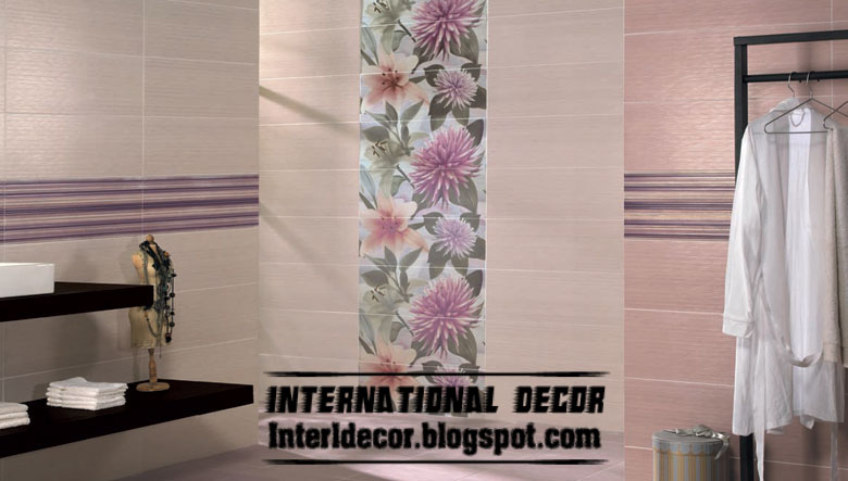 wall tile design for bathroom in calm colors - Bathroom Wall Tiles Design