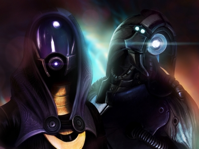 Mass Effect Fanart Tali and Legion by BoyGTO