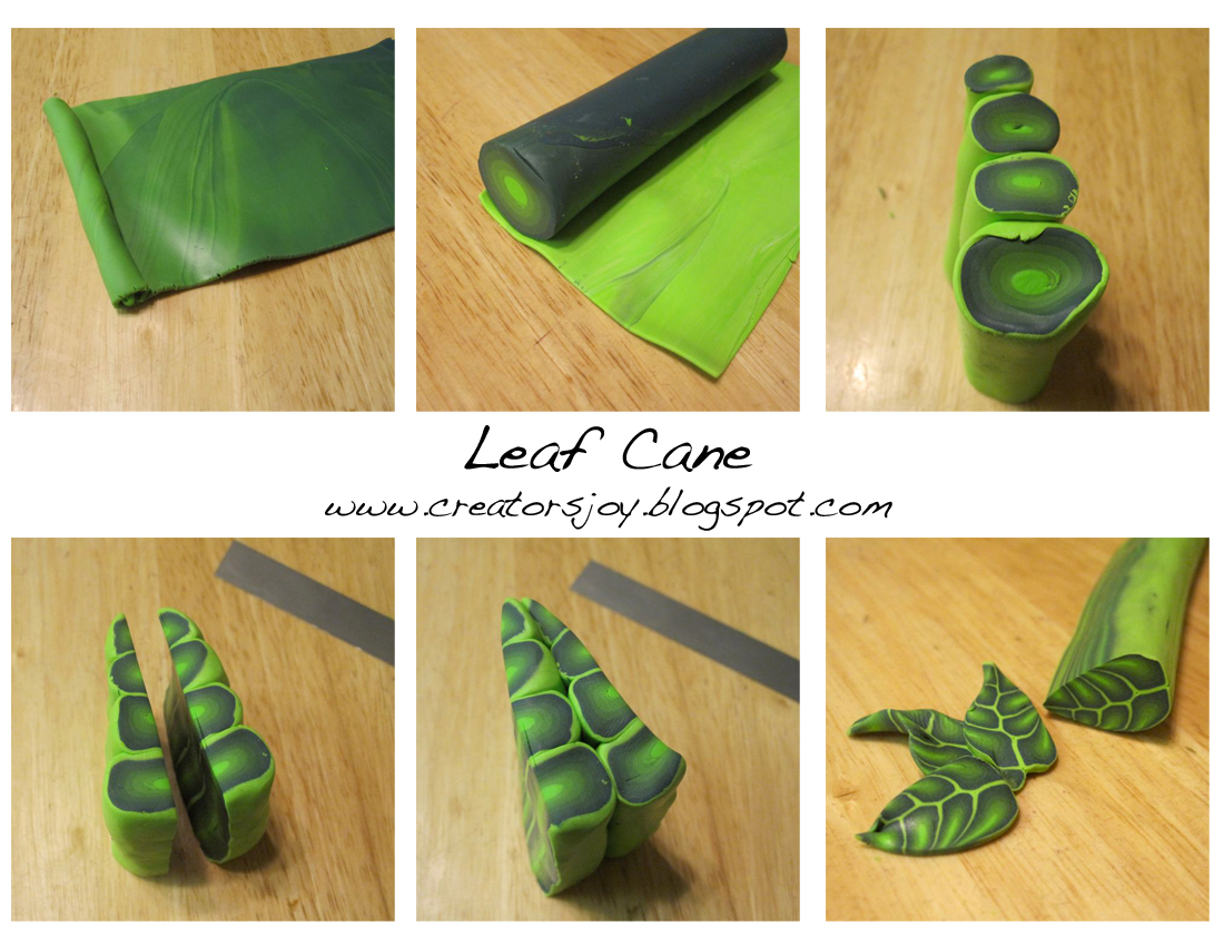 polymerclay leaf canes fimo polymer clay tutorials. Black Bedroom Furniture Sets. Home Design Ideas