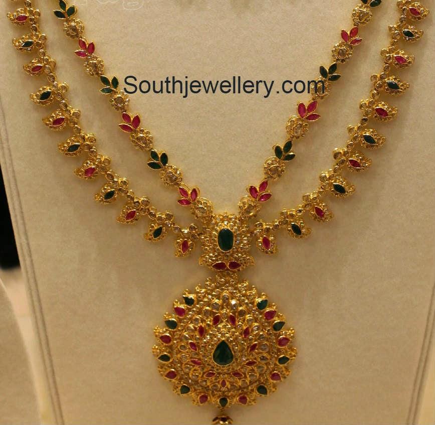 uncut mango necklace