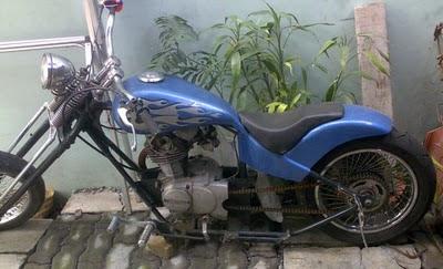 Honda CB Harley Modifikasi