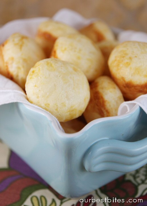 Quick Brazilian Cheese Rolls {Pao de Queijo} - Our Best Bites
