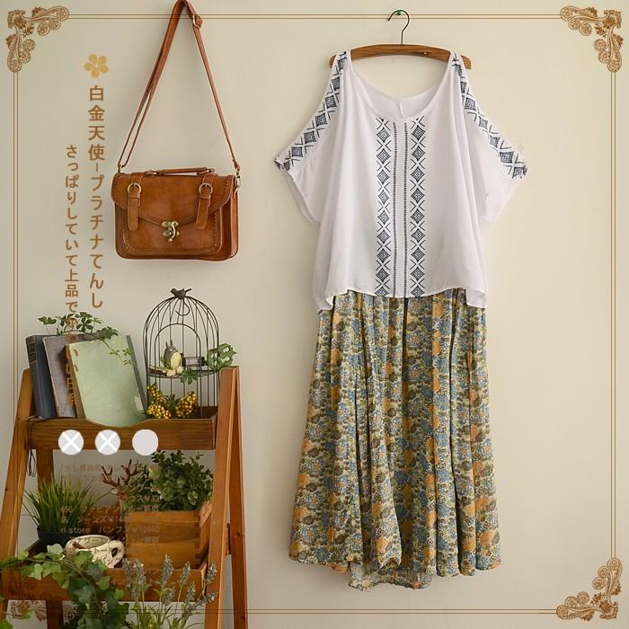 Chân Váy Dài Hoa Cổ điển Sakura Fashion Thời Trang Phong Cách Nhật Bản