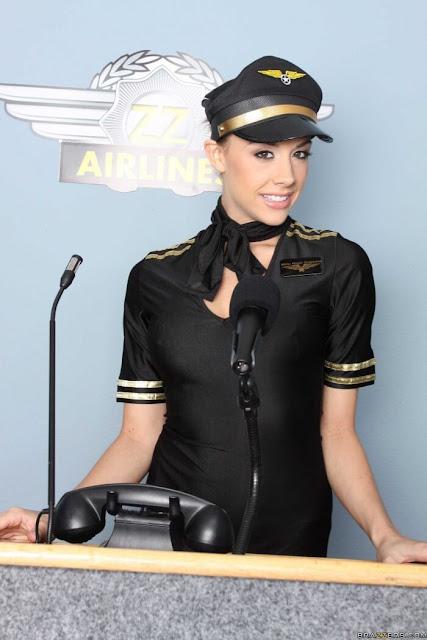 sexy Stewardess Chanel Preston