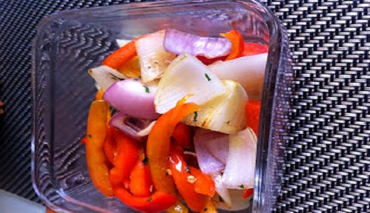 cebolla y pimenton