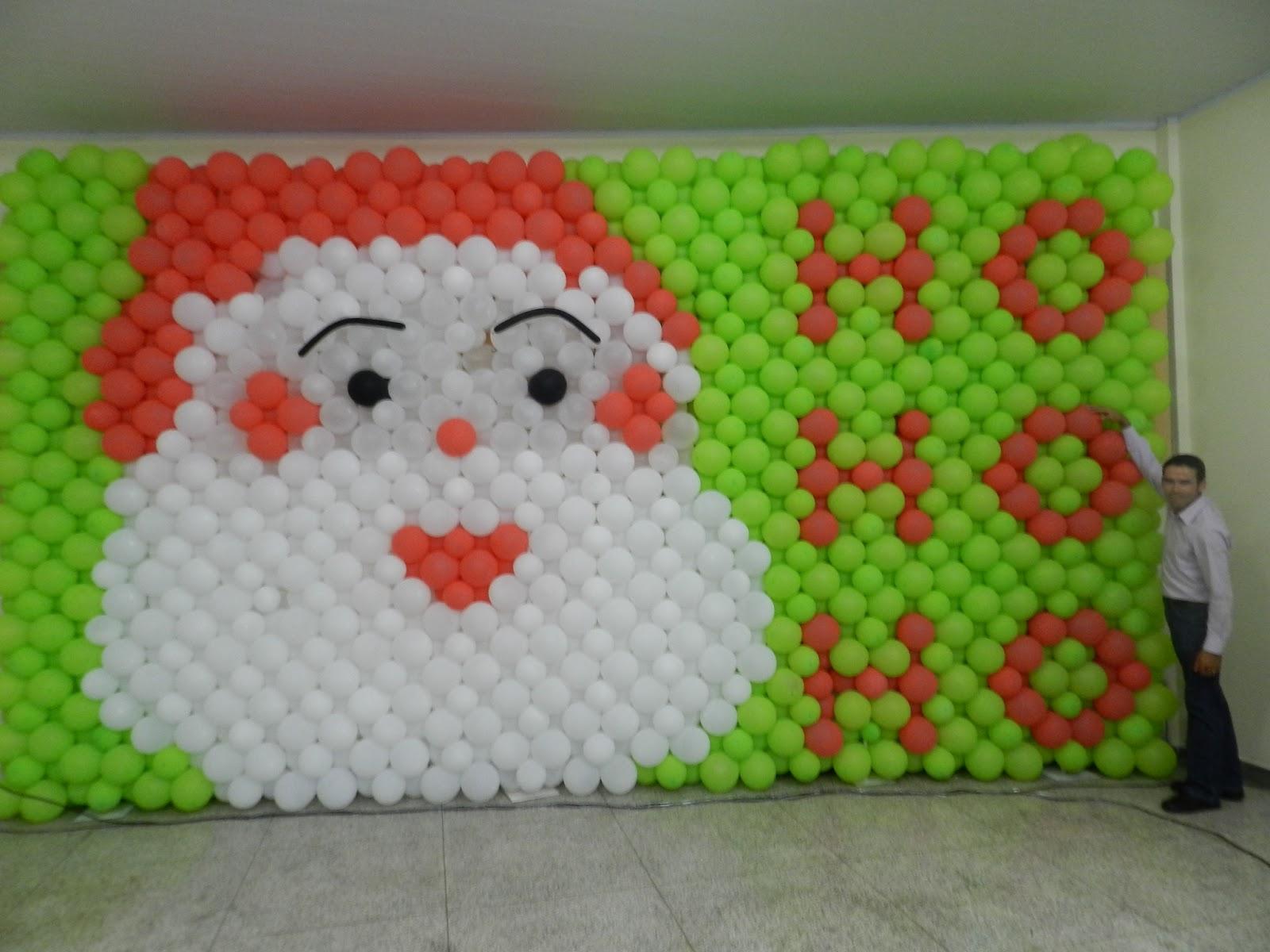 Agora n s somos festeirah decor papai noel mural de bal es for Agora decoration