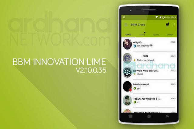 BBM Innovation Lime - BBM Android V2.10.0.35