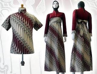 Model Baju Batik Gamis Modern 2013