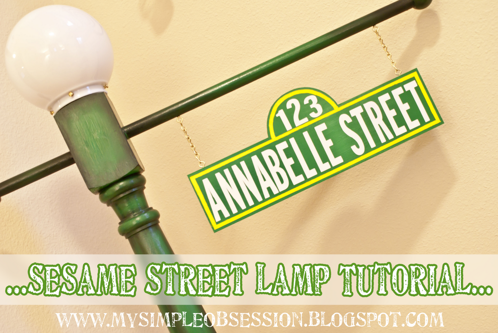 My simple obsession sesame street post sign tutorial sesame street post sign tutorial aloadofball Choice Image