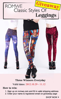 romwe leggings giveaway