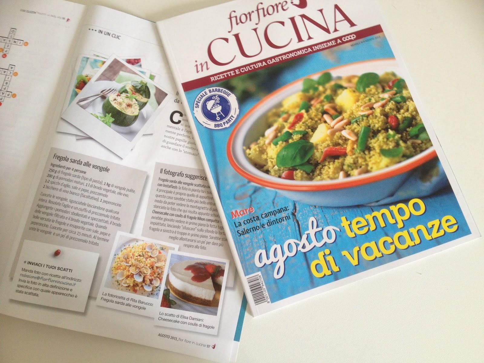 cucina con amici: la mia fotoricetta pubblicata su una rivista di cucina