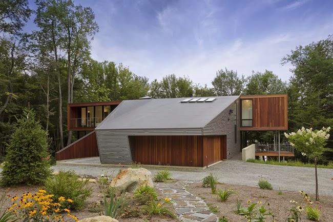 Casa minimalista entre el bosque minimalistas 2015 for Casa minimalista concepto