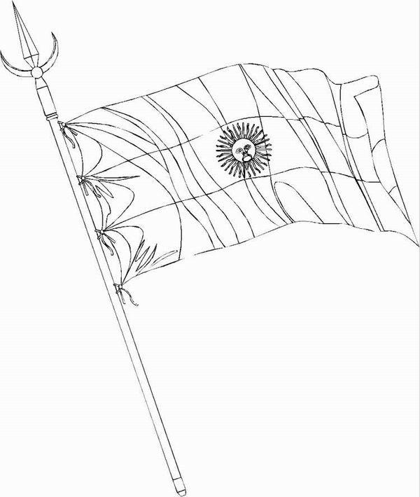 LAMINAS PARA COLOREAR - COLORING PAGES: Bandera de Argentina para ...