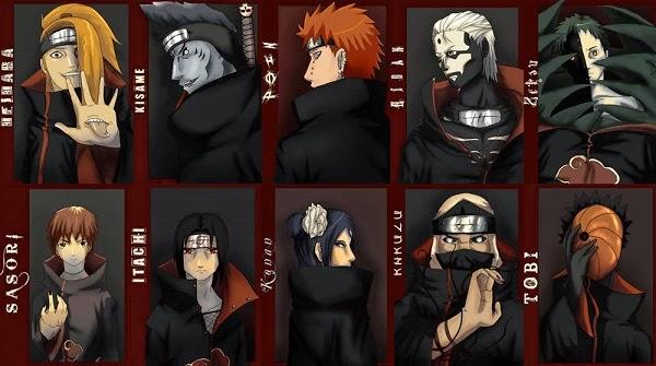 10 Anggota Akatsuki