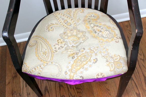 It's a good foundation: Reupholstered Chair DIY using Milk Paint | DIY Playbook