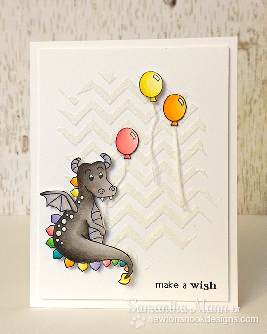 Dragon Birthday Card by Samantha Mann using Magical Dreams Stamp set by Samantha Mann