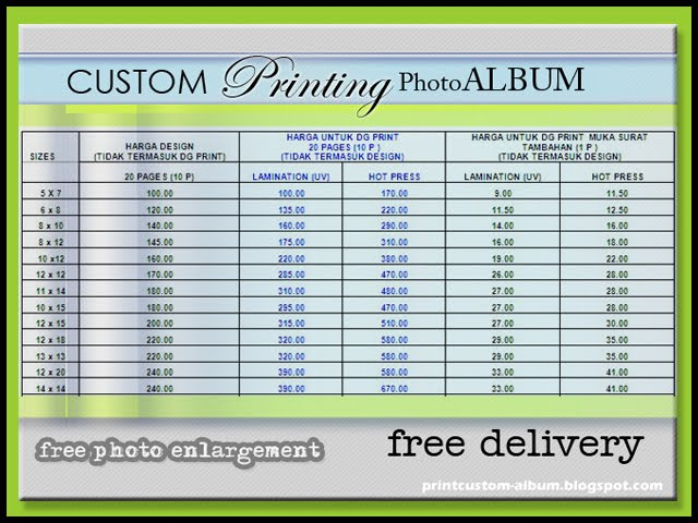 Wedding custom album printing services perkhidmatan cetak custom album perka - Customiser album photo ...