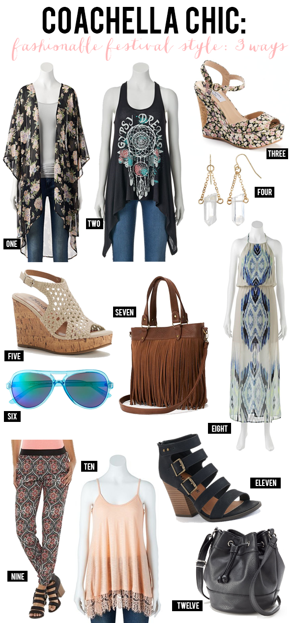 Coachella Chic: Fashionable Festival Style 3 Ways