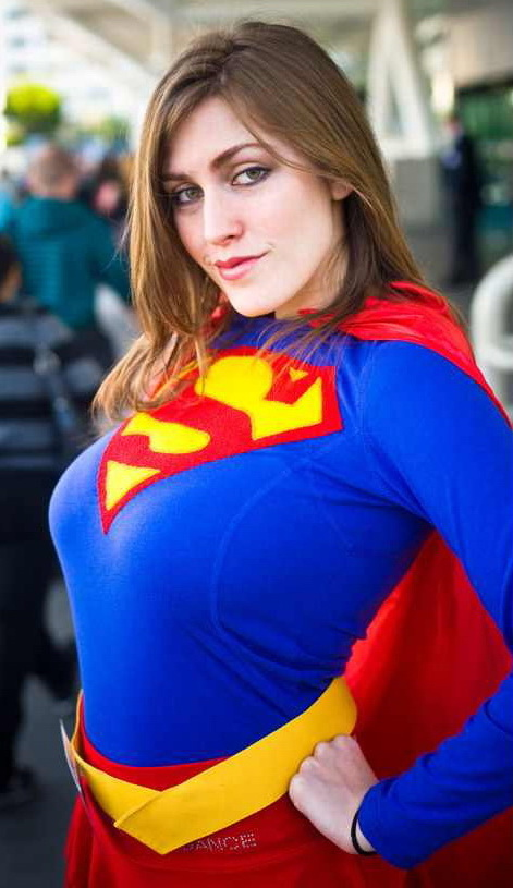She SMOKING Busty supergirl woman