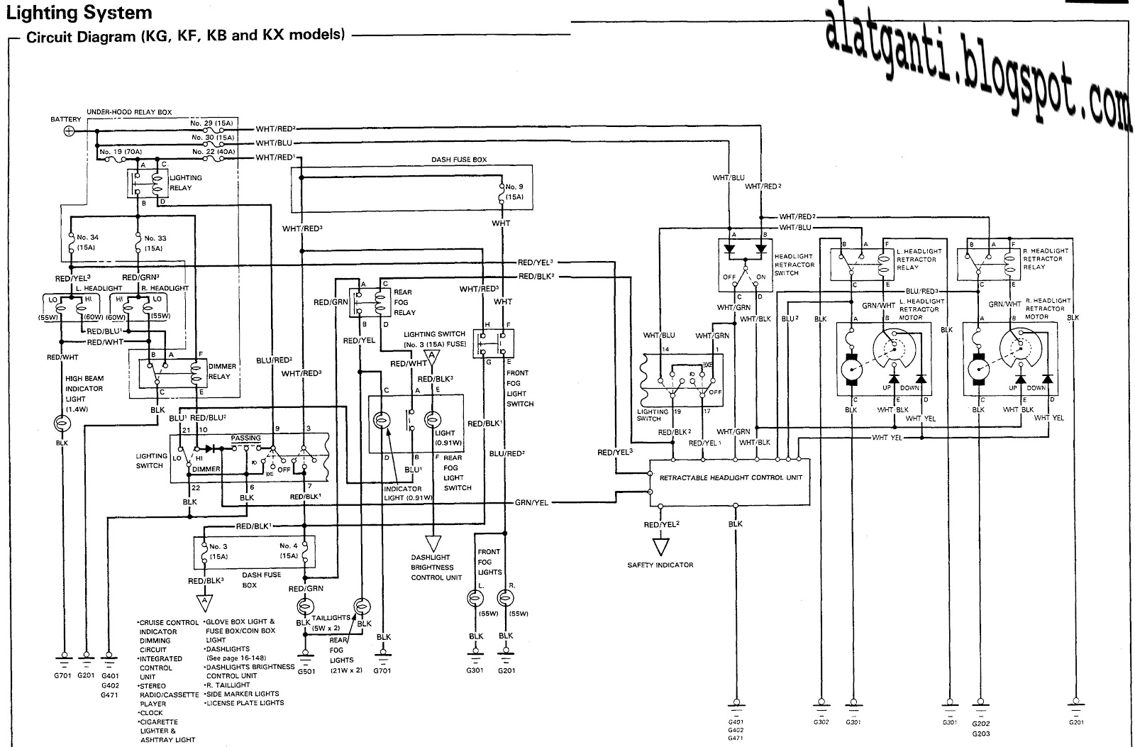 01 honda recon engine diagram