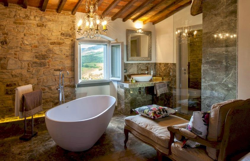 A luxury suite at Vitigliano Relais and Spa in Tuscany, Italy