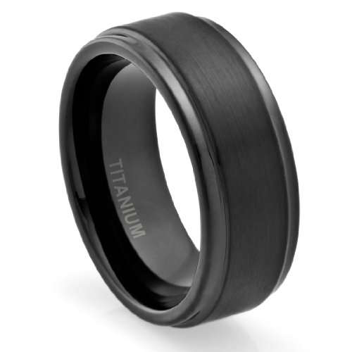 Ring Design Ideas engagement ring design ideas6 Black Titanium Wedding Rings For Men