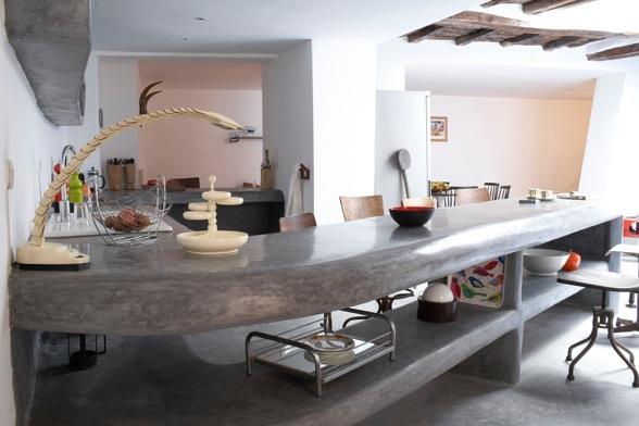 Vintageandlife cemento pulido for Barras de cocina de concreto
