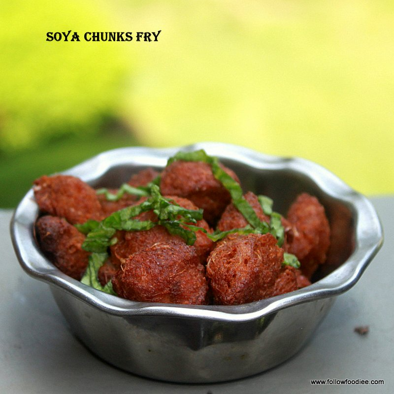 Easy crispy nuggets made with Soya Chunks
