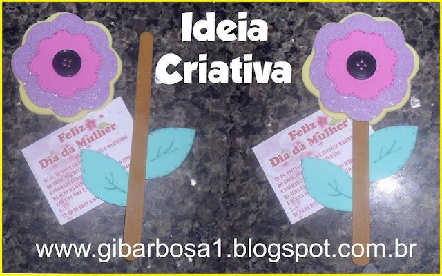 Lembrancinha Dia da Mulher Porta Lixa Flor