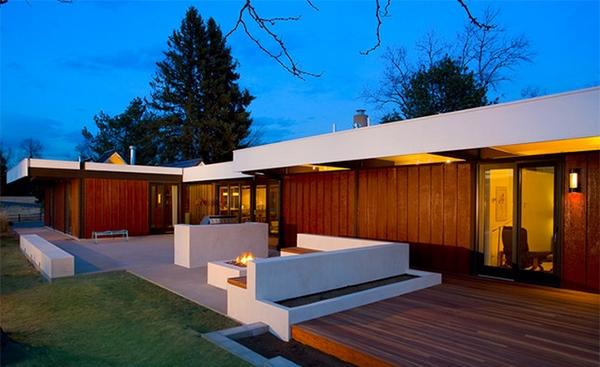 desain teras kayu modern rumah minimalis rancangan