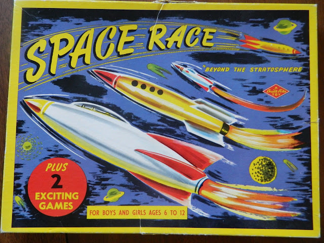 1950s space race board game vintage retro atomic  Just Peachy, Darling
