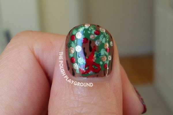 Festive Holiday Decorations Nail Art