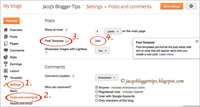 jacq39s blogger tips how to create a post template in With blogger post template code