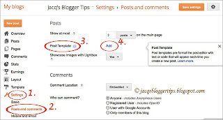 Screenshot to illustrate post template feature = step 3