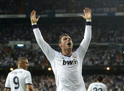 Cristiano Ronaldo after scoring against City