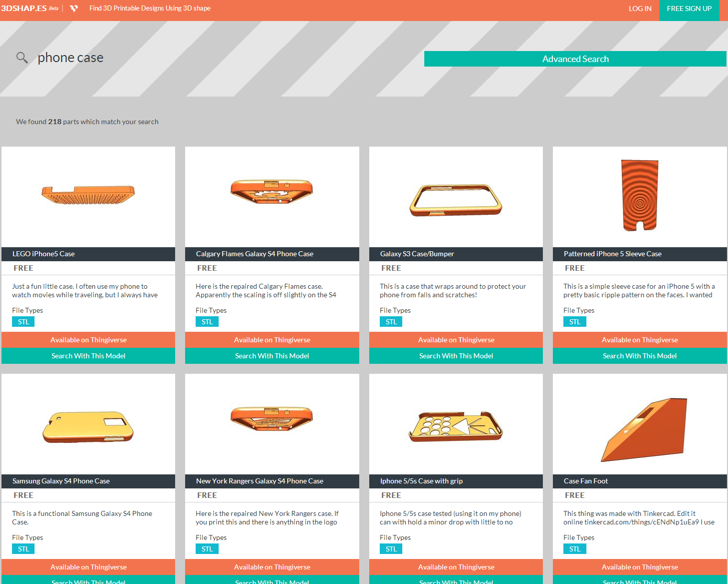 Diy 3d printing is a new 3d model search engine for 3d search engine