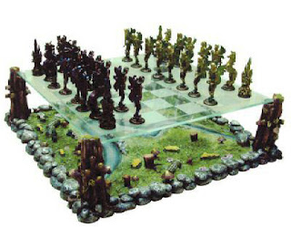 two level bizaare chess set chesscraft