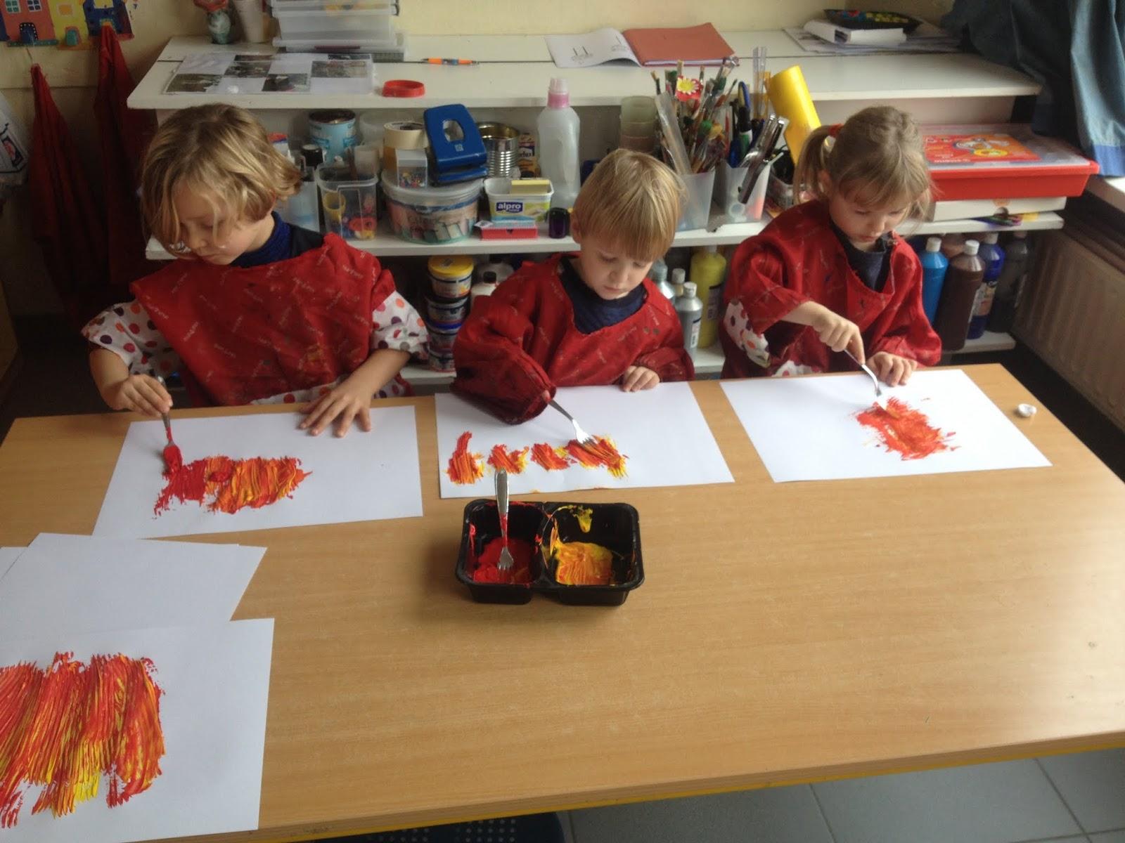 Welkom op de blog van de 2de kleuterklas thema brandweer in de klas - Maken rode verf ...