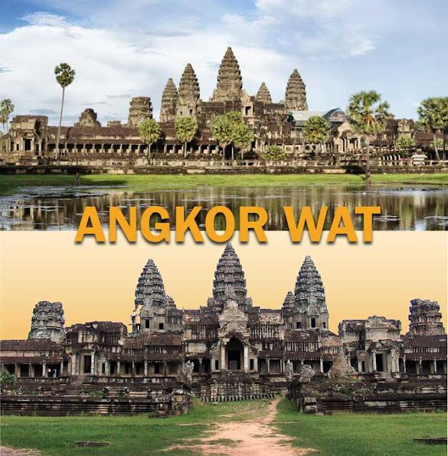 Bangunan peninggalan agama Hindu terbesar di Asia Tenggara Angkor Wat
