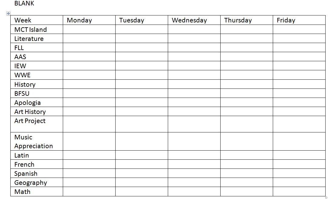 This is an image of Dynamite Blank Weekly Planner
