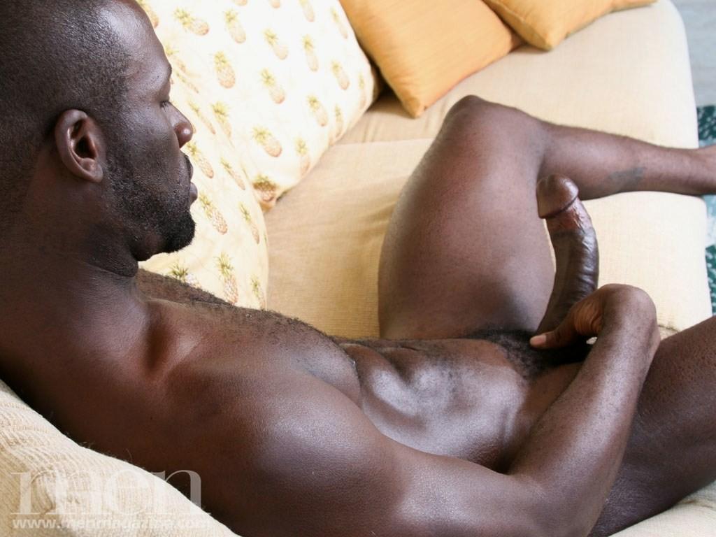 Gay black bulge