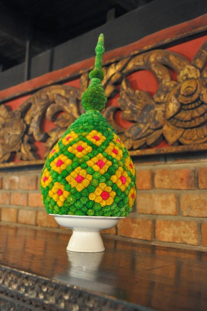 Traditional Thai poom flower arrangement