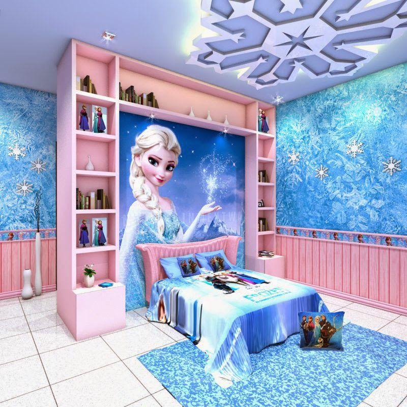 Dormitorios para ni as tema frozen dormitorios colores y for Dormitorios para 4 ninas