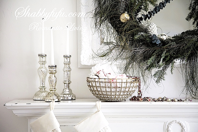 Christmas Mantel Styling Ideas And A Blog Hop Shabbyfufu