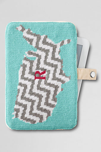 USA needlepoint ipad case