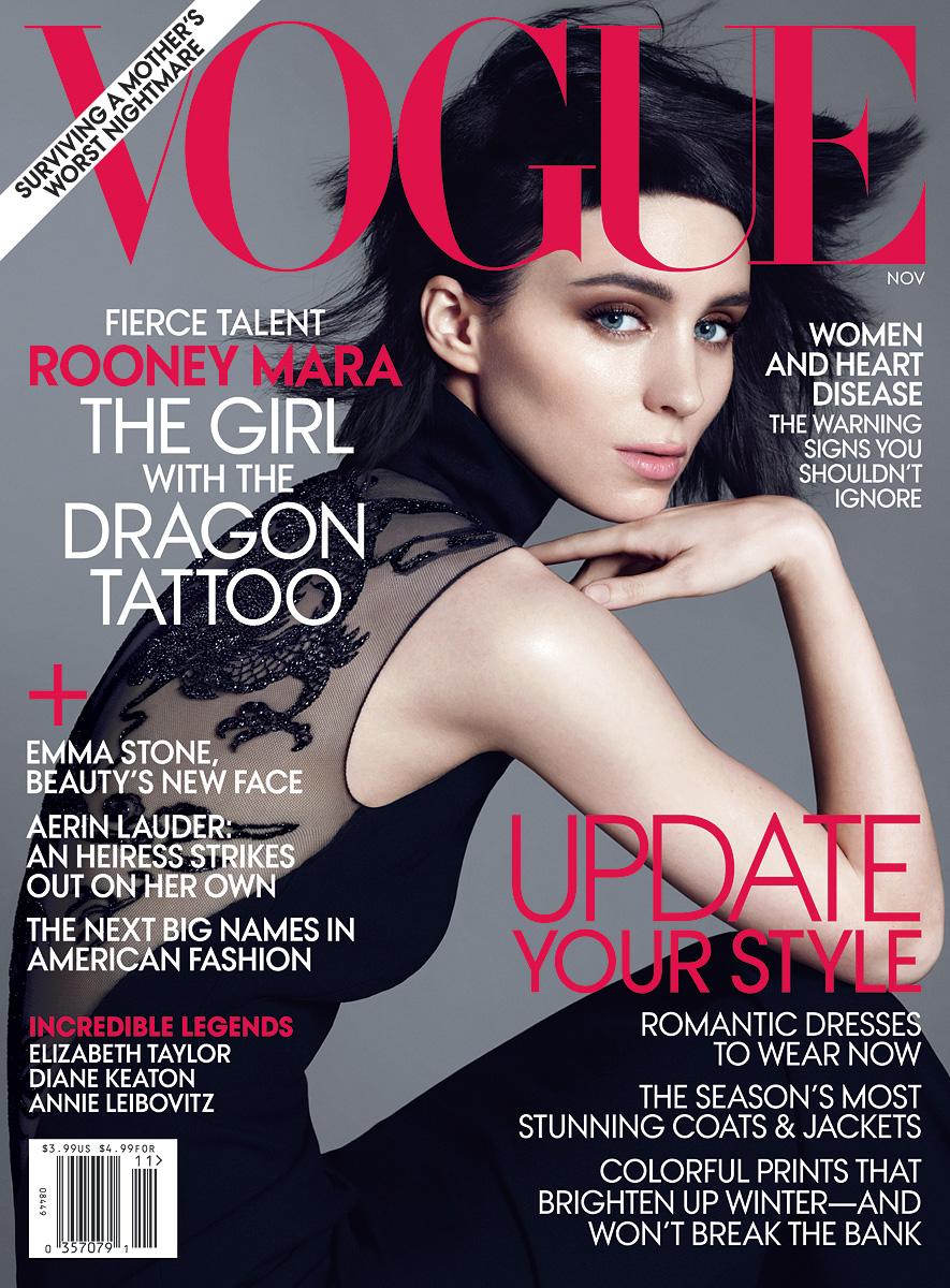 Rooney Mara for Vogue Magazine November 2011