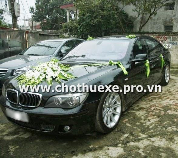 Cho thuê xe cưới BMW 760Li tại Hà Nội
